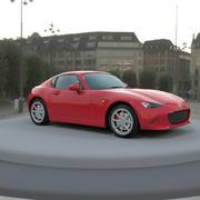 3d модель Mazda MX 5 с жесткой крышей Unity 3D готова 3d model