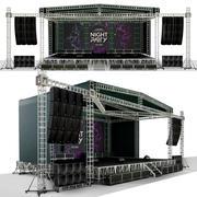Scène de concert 3d model