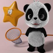 Мультфильм панда 3d model