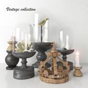 Vintage collection - Decorative Set # 3 3d model