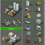 Voxel City 3d model