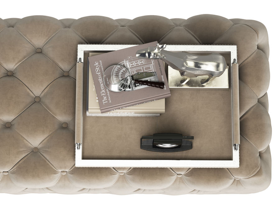 Zgallerie Jules Tufted Bench royalty-free 3d model - Preview no. 3