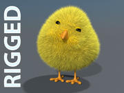 Chick - rigged 3d model