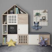 儿童室装饰家具10 3d model