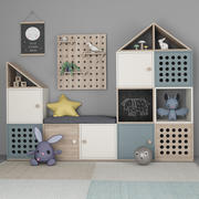 儿童室装饰家具11 3d model