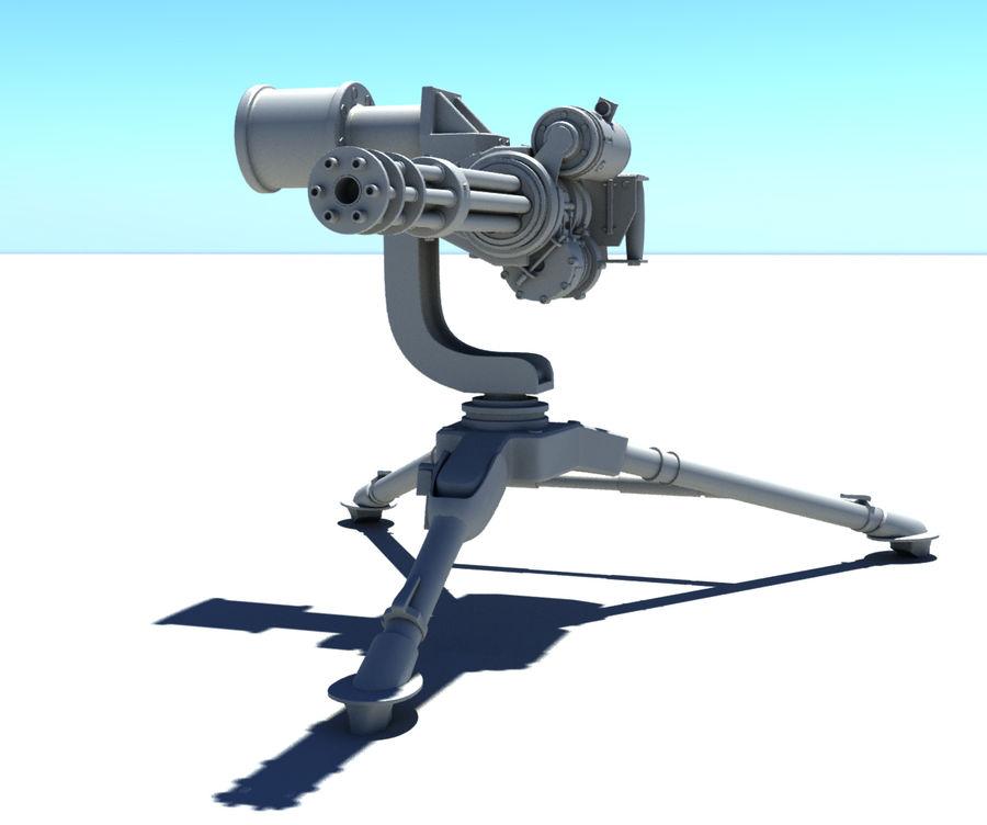 Minigun M134 royalty-free 3d model - Preview no. 3