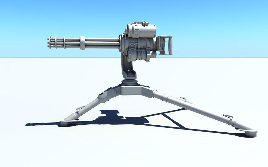 Minigun M134 royalty-free 3d model - Preview no. 1