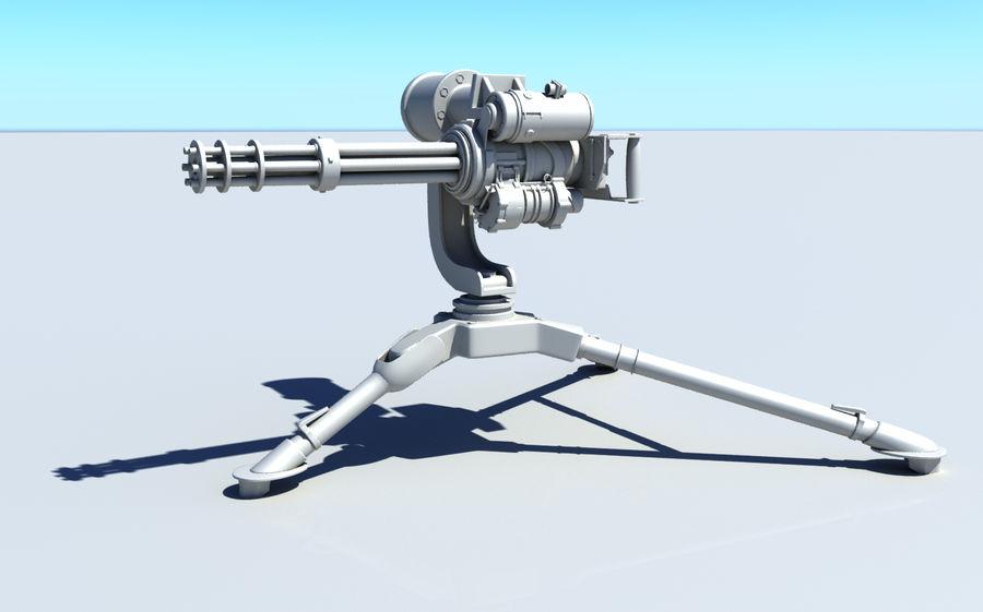 Minigun M134 royalty-free 3d model - Preview no. 2