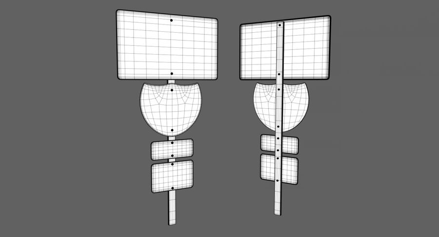 Freeway Sign royalty-free 3d model - Preview no. 7