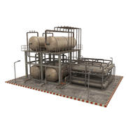 Oljeraffinaderi 3d model