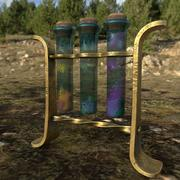 glass tubes with substances PBR low poly 3d model