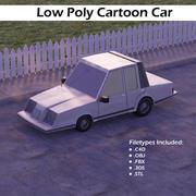 低ポリ漫画車 3d model