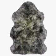 Alfombra Luxe de piel de oveja gris modelo 3d