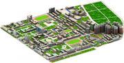 Echter Stadtblock 3d model