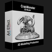 Yengeç Canavarı 3D Modelleme 3d model