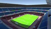 Stadion piłkarski Low Poly 3d model