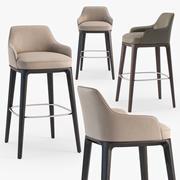 Poliform Sophie stool 3d model