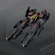 SF DARAKIS Gunship R4 3d model