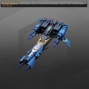 SF Gunship RK4 3d model