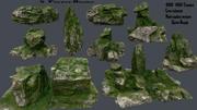 mossy rocks 3d model