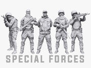 Lowpoly Special Forces Pack 3d model