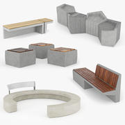Urban Furniture Set 3d model