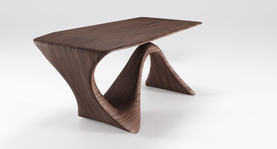 Современный деревянный стол royalty-free 3d model - Preview no. 9