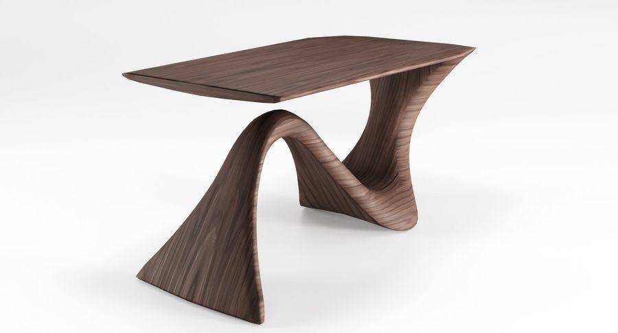 Современный деревянный стол royalty-free 3d model - Preview no. 7
