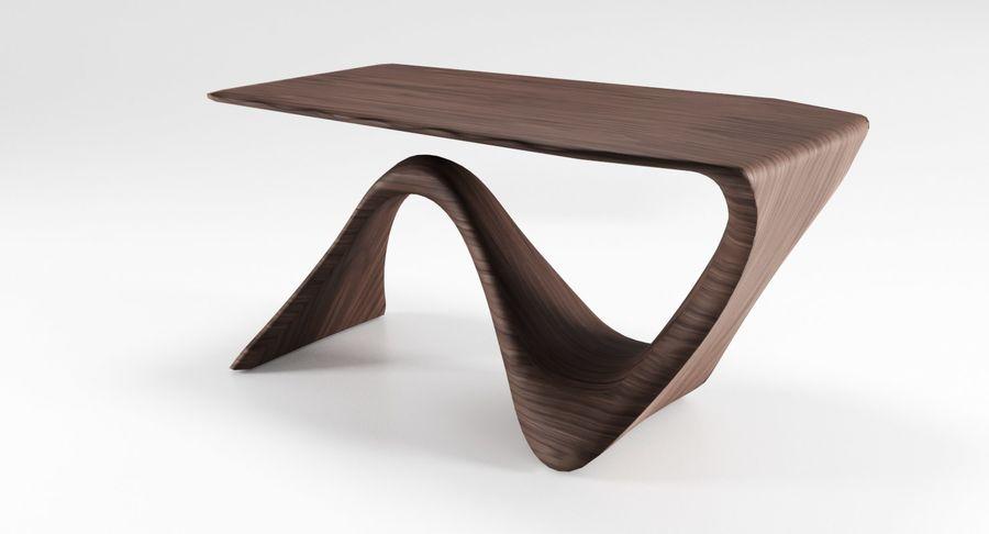 Современный деревянный стол royalty-free 3d model - Preview no. 8