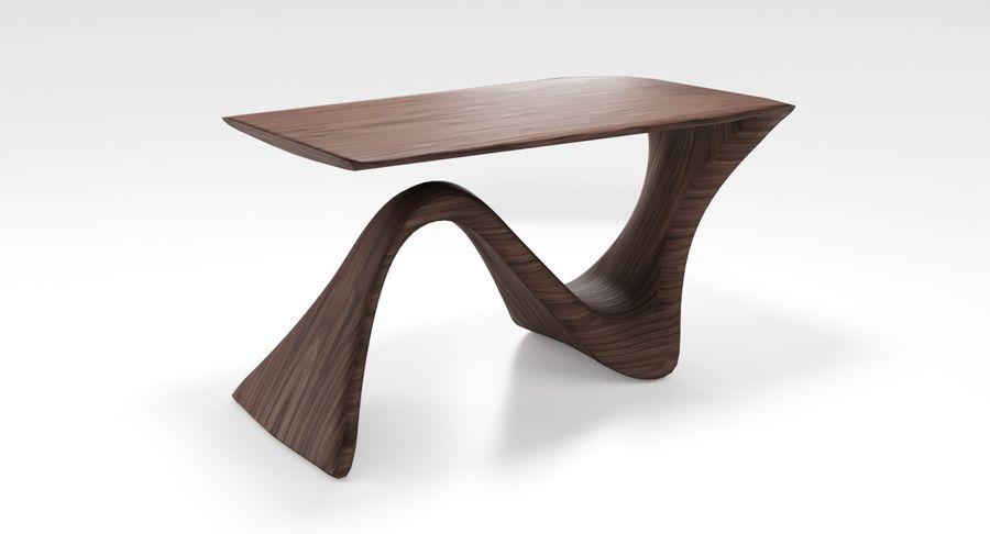 Современный деревянный стол royalty-free 3d model - Preview no. 2