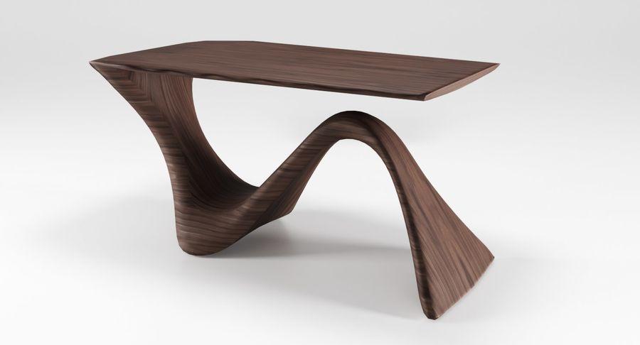 Современный деревянный стол royalty-free 3d model - Preview no. 10