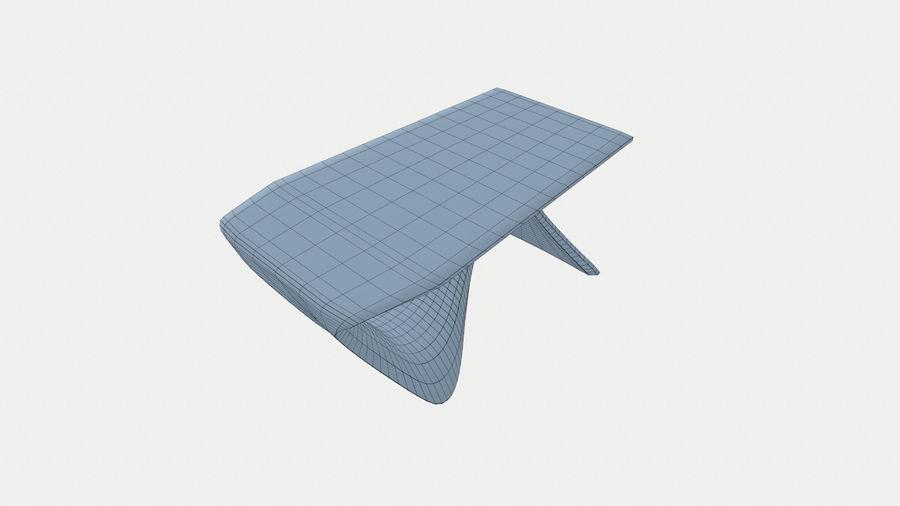 Современный деревянный стол royalty-free 3d model - Preview no. 5