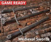 Średniowieczne miecze (3 w 1) 3d model