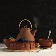 ケーキとお茶 3d model
