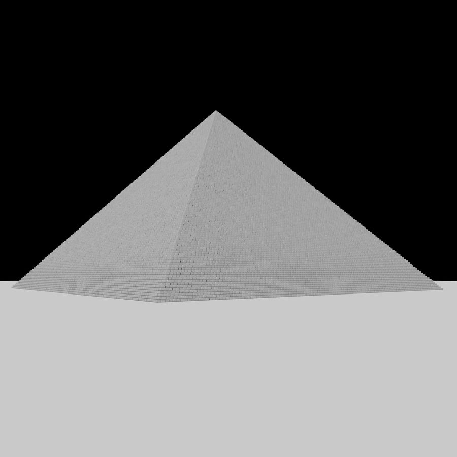 Pyramid royalty-free 3d model - Preview no. 3