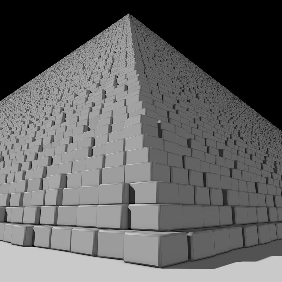 Pyramid royalty-free 3d model - Preview no. 4