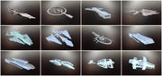Spacecraft collection 3d model