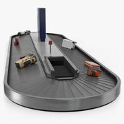 Transportband voor bagageband Metaal opgetuigd 3d model