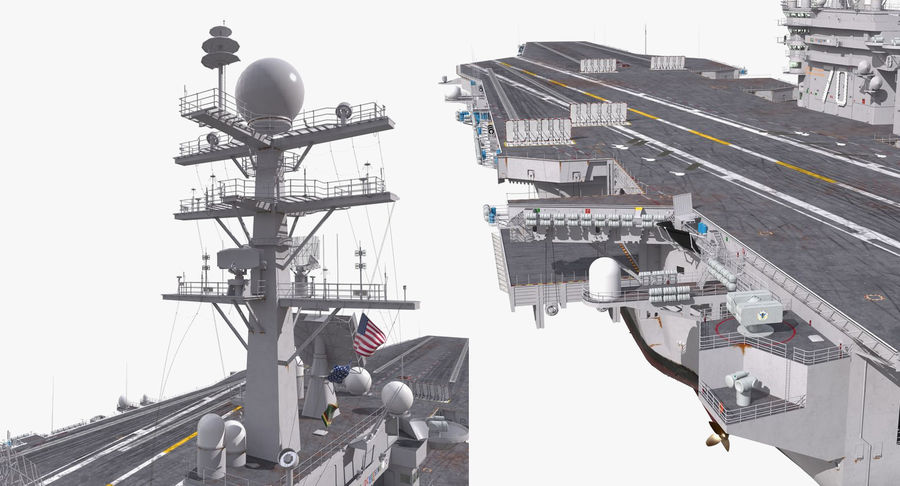 US Aircraft Carriers Collection royalty-free 3d model - Preview no. 29
