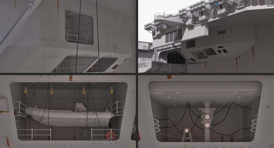 US Aircraft Carriers Collection royalty-free 3d model - Preview no. 12