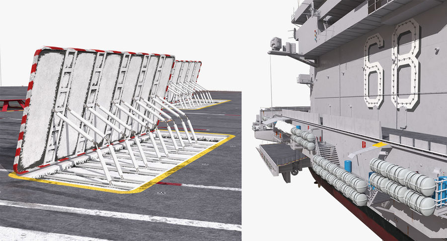 US Aircraft Carriers Collection royalty-free 3d model - Preview no. 58