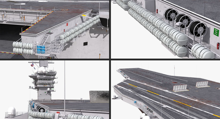 US Aircraft Carriers Collection royalty-free 3d model - Preview no. 9