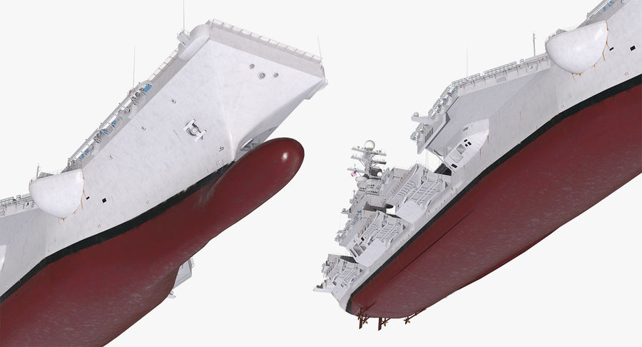 US Aircraft Carriers Collection royalty-free 3d model - Preview no. 44