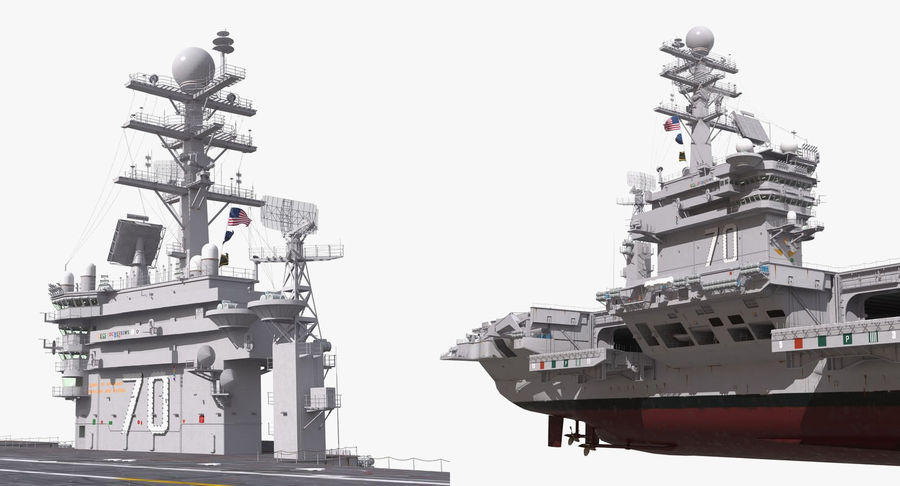 US Aircraft Carriers Collection royalty-free 3d model - Preview no. 28