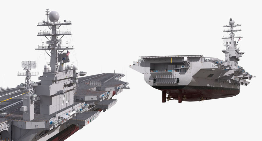 US Aircraft Carriers Collection royalty-free 3d model - Preview no. 27