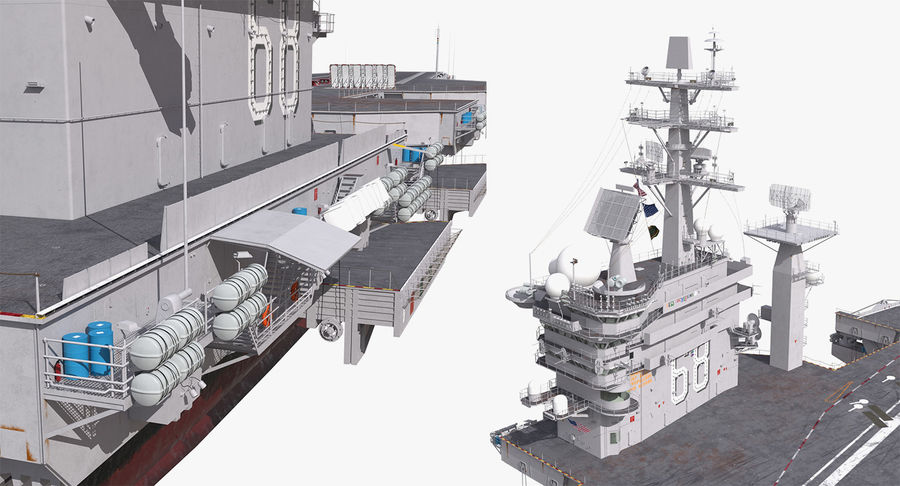 US Aircraft Carriers Collection royalty-free 3d model - Preview no. 60