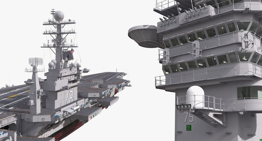 US Aircraft Carriers Collection royalty-free 3d model - Preview no. 47