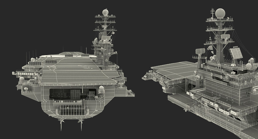 US Aircraft Carriers Collection royalty-free 3d model - Preview no. 77