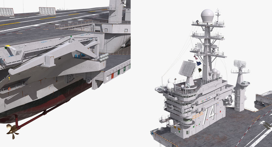 US Aircraft Carriers Collection royalty-free 3d model - Preview no. 53