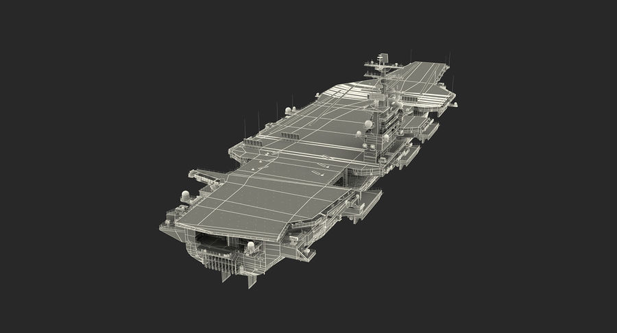 US Aircraft Carriers Collection royalty-free 3d model - Preview no. 76